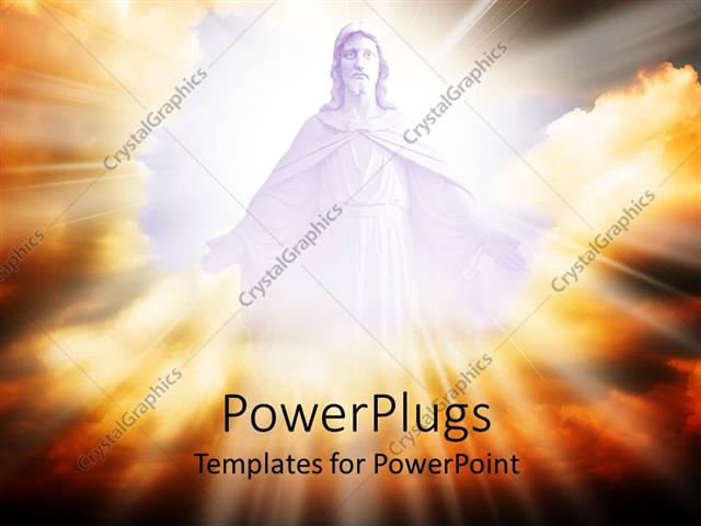 Powerpoint template jesus in the clouds with a lot of light 17770 powerpoint template displaying jesus in the clouds with a lot of light toneelgroepblik Choice Image