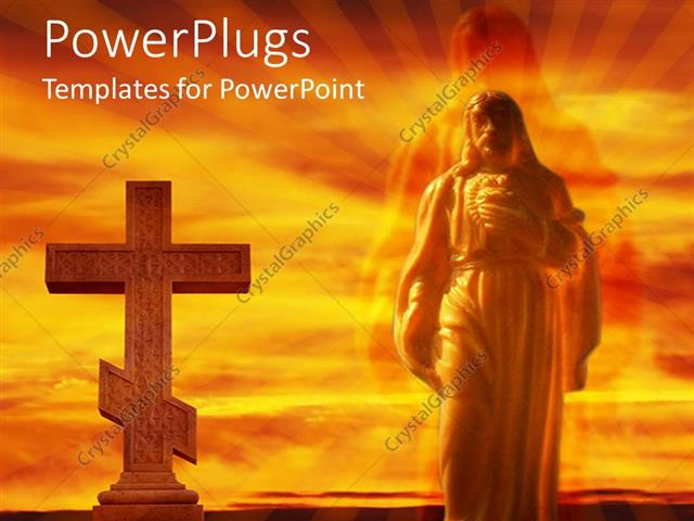 Powerpoint Template The Jesus And The Holy Cross 25023