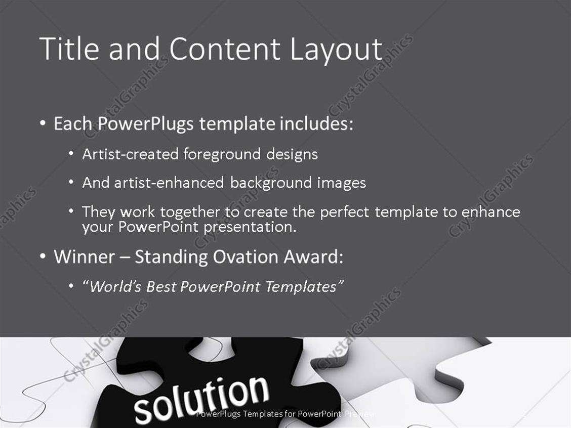PowerPoint Template: a jigsaw puzzle with the missing part being ...