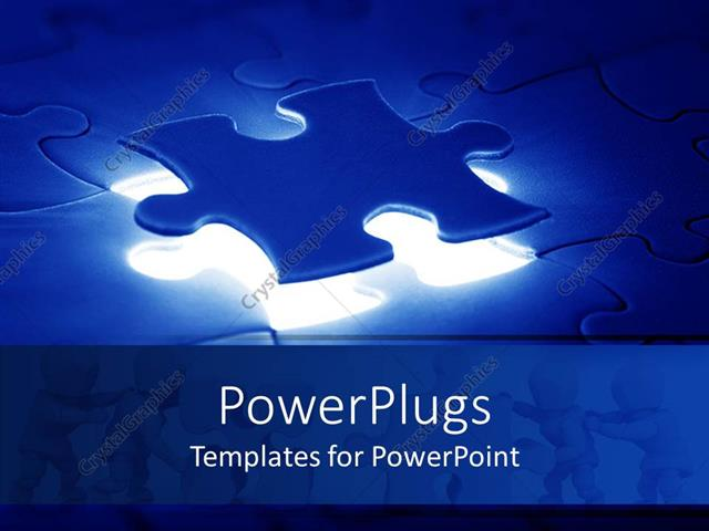 Powerpoint template a jigsaw puzzle with the missing piece just on powerpoint template displaying a jigsaw puzzle with the missing piece just on top of its right place toneelgroepblik Images