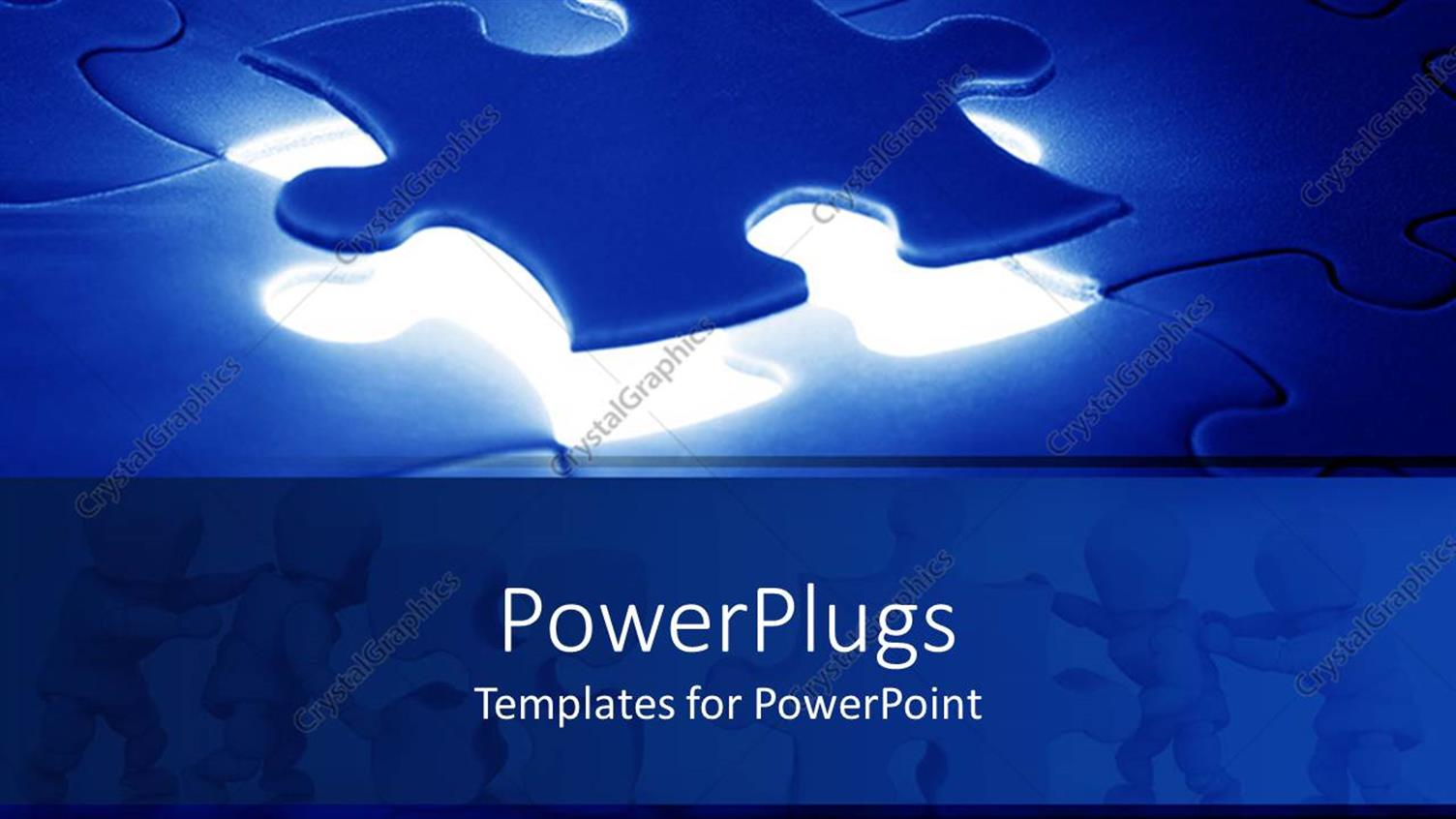PowerPoint Template Displaying a Jigsaw Puzzle with the Missing Piece just on Top of its Right Place