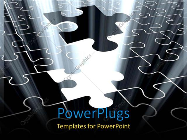 Powerpoint template jigsaw puzzle piece falling with light glow powerpoint template displaying jigsaw puzzle piece falling with light glow from missing spot toneelgroepblik Images