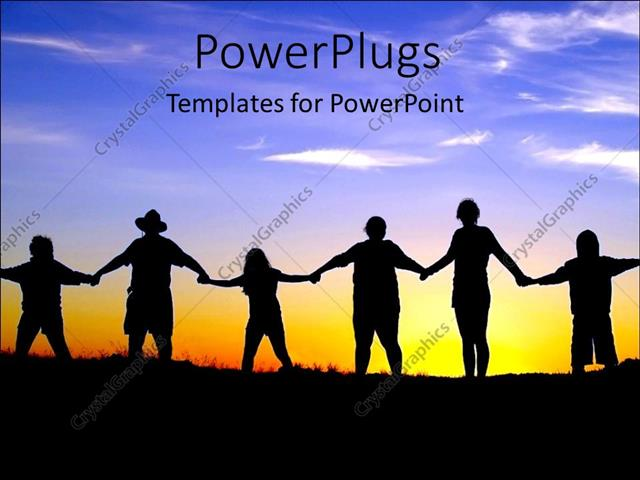 PowerPoint Template Displaying Joining Hands People Come Together Teamwork Diversity Global Communication