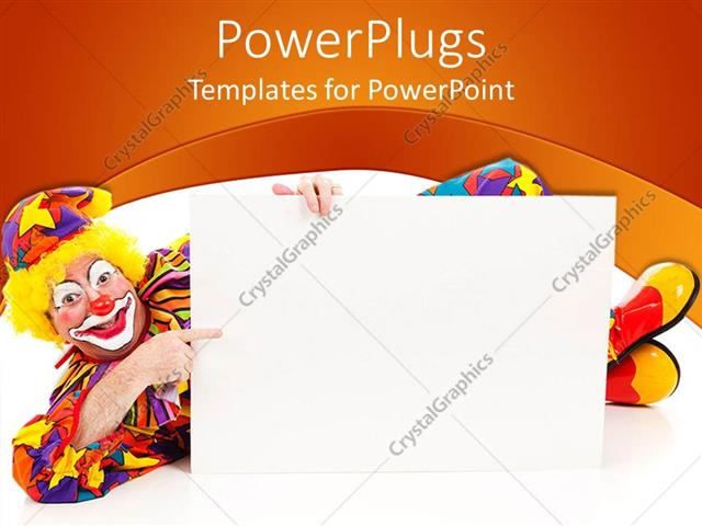 Powerpoint template a joker pointing towards a card board 7457 powerpoint template displaying a joker pointing towards a card board maxwellsz