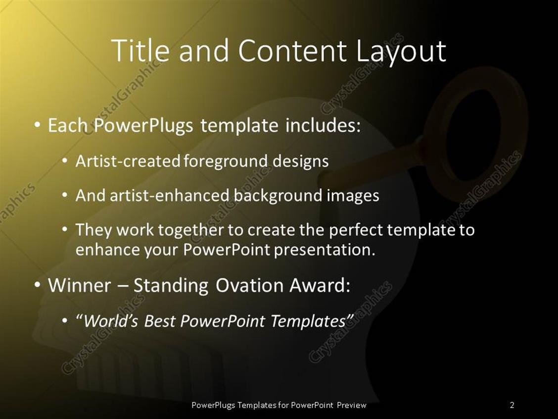 Powerpoint template a key inside keyhole with yellowish powerpoint products templates secure alramifo Image collections