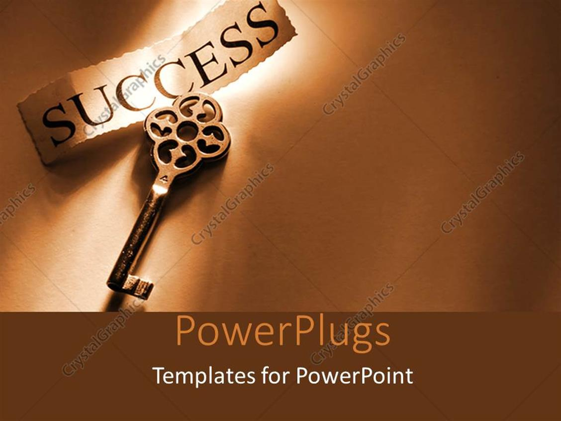 Powerpoint template a key to success with brownish background 27956 powerpoint template displaying a key to success with brownish background alramifo Gallery