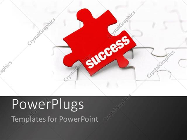 Powerpoint template the key to success as a metaphor missing red powerpoint template displaying the key to success as a metaphor missing red puzzle piece on a white toneelgroepblik Images