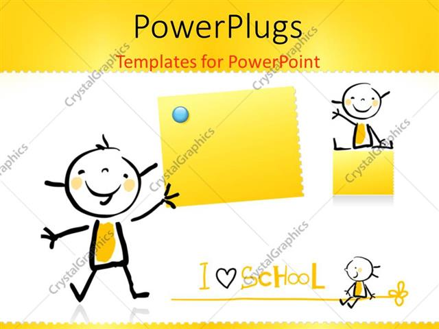 Powerpoint template a kid is happy because he loves school 16831 powerpoint template displaying a kid is happy because he loves school toneelgroepblik Images
