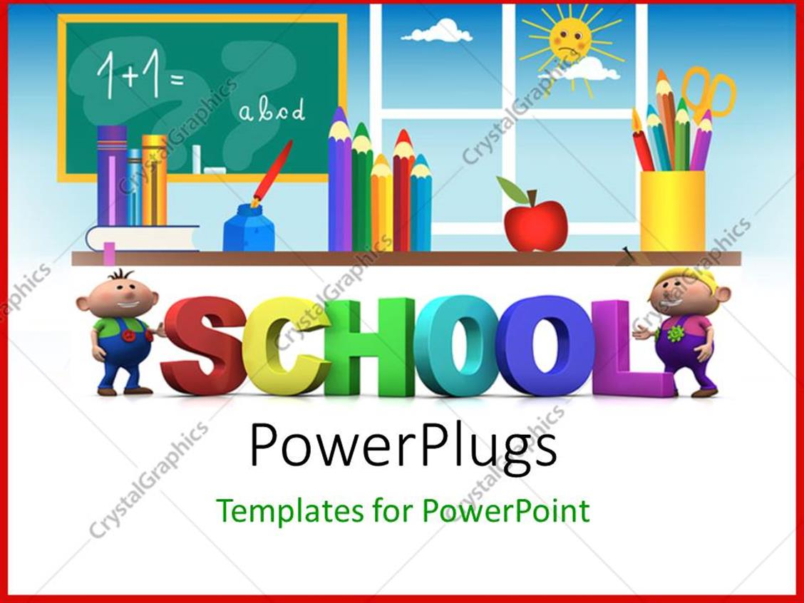 Powerpoint Template Kids Education With 3d Letters