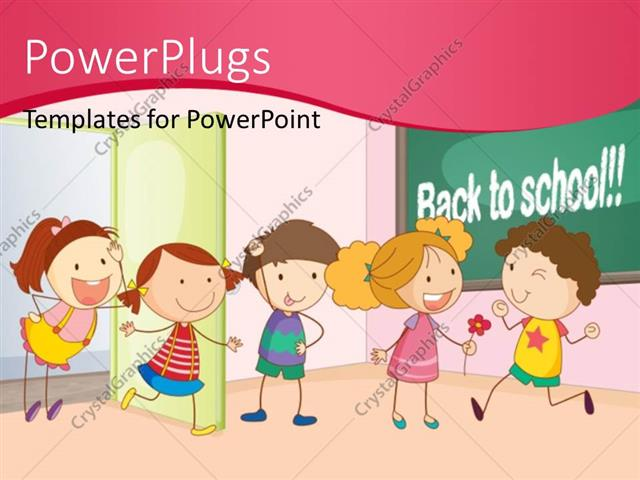 Powerpoint template kids playing and having fun together in powerpoint template displaying kids playing and having fun together in classroom with back to school toneelgroepblik Images