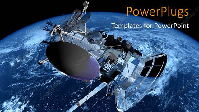 PowerPoint Template: A Space Shuttle With Earth In The
