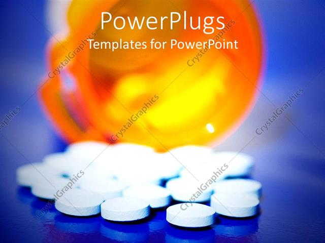 Powerpoint template knocked over prescription pill drugs spilled powerpoint template displaying knocked over prescription pill drugs spilled over blue background toneelgroepblik Choice Image