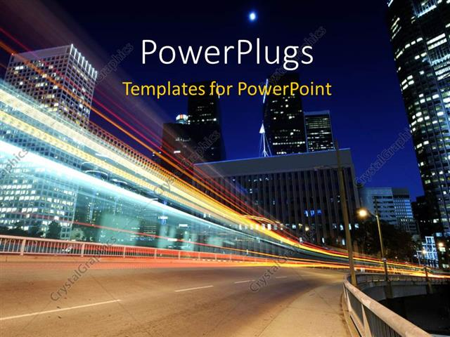 Powerpoint Template Landscape Showing Night View Of Beautiful City