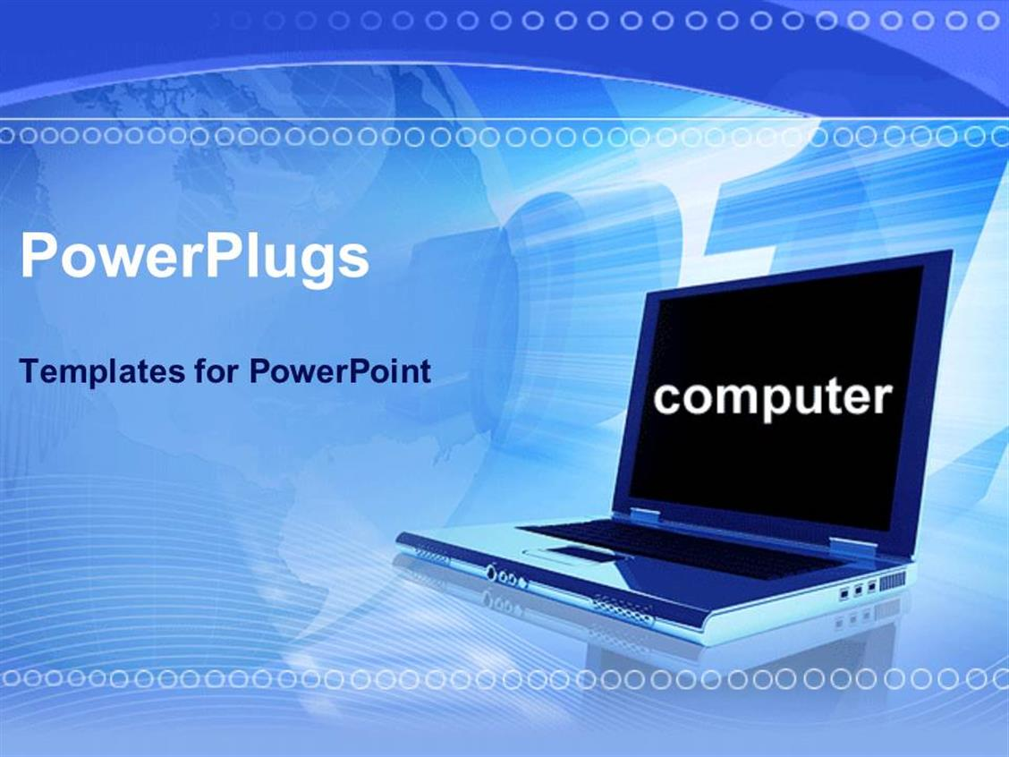 Powerpoint template laptop in blue background with computer powerpoint template displaying laptop in blue background with computer displayed on screen alramifo Choice Image