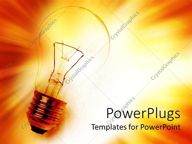 PowerPoint Template Displaying Latest Technology