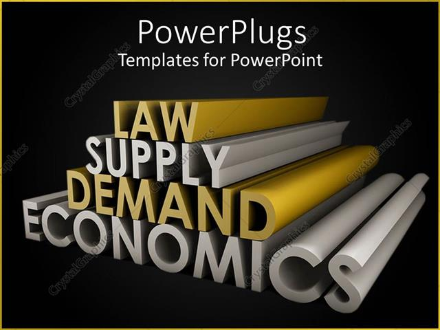 Powerpoint Template Law Supply Demand Economics In Gold And Silver