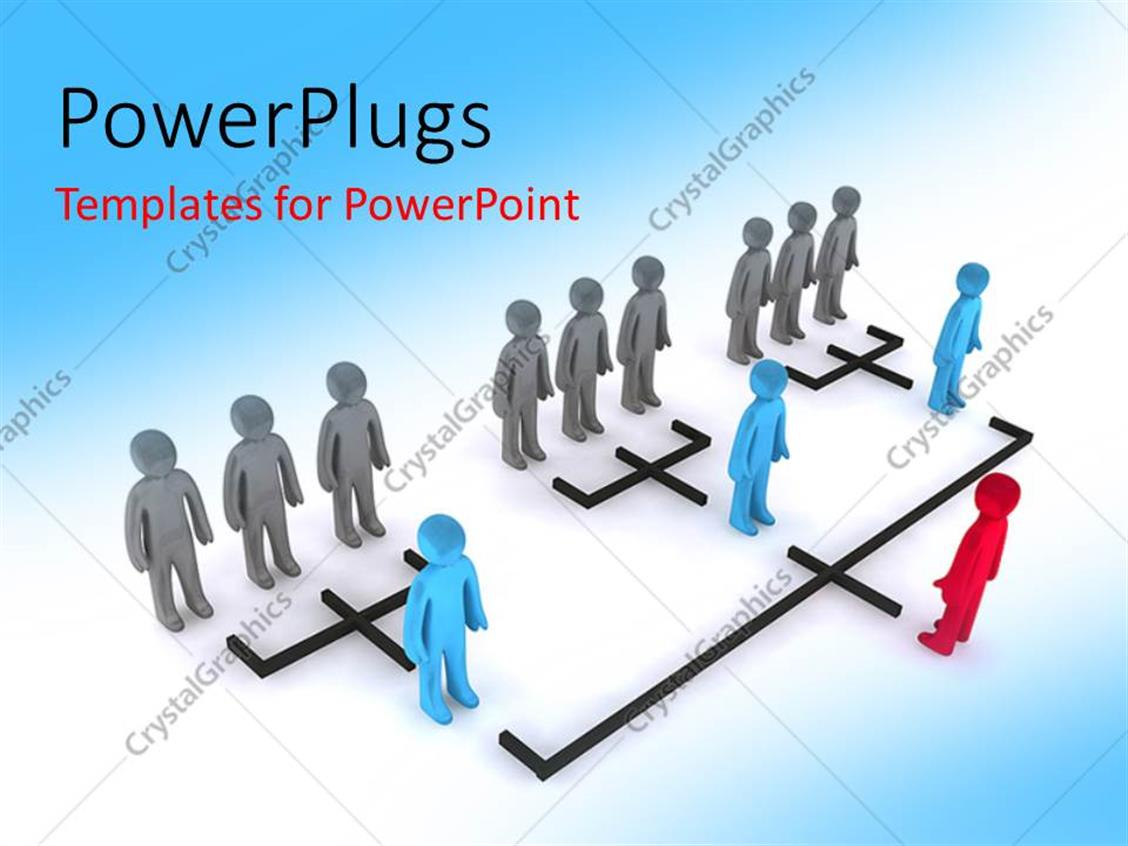 Powerpoint Template Leadership Concept With 3d Organizational