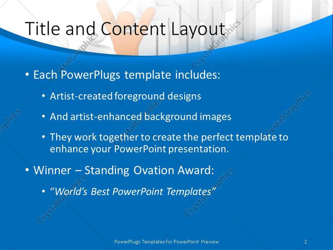 Powerpoint template leadership depiction with distinct orange 3d powerpoint products templates secure alramifo Images