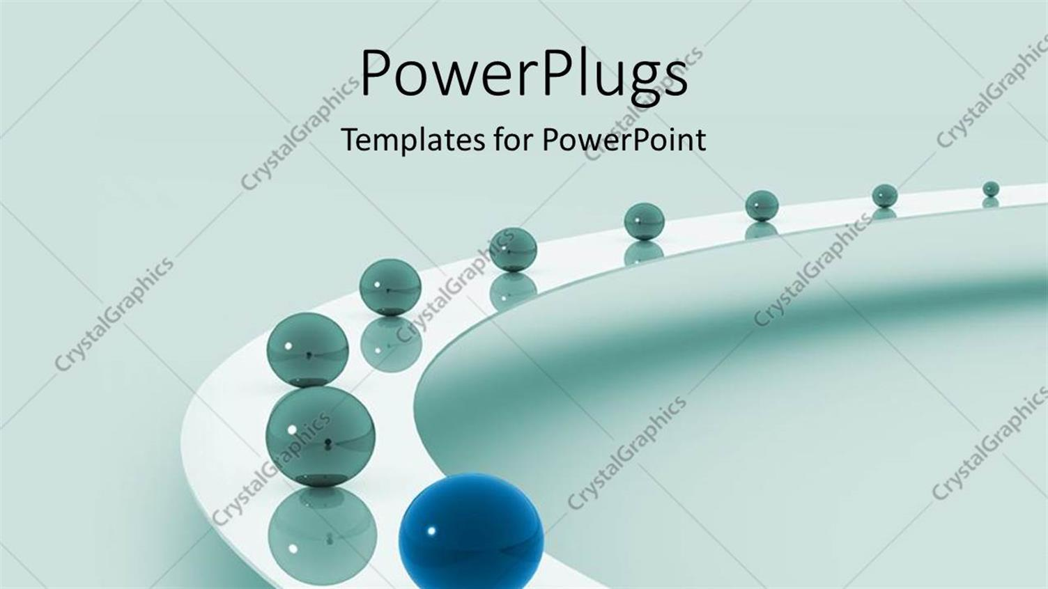 PowerPoint Template Displaying Leadership as a Metaphor with Marbles on a Grey Background