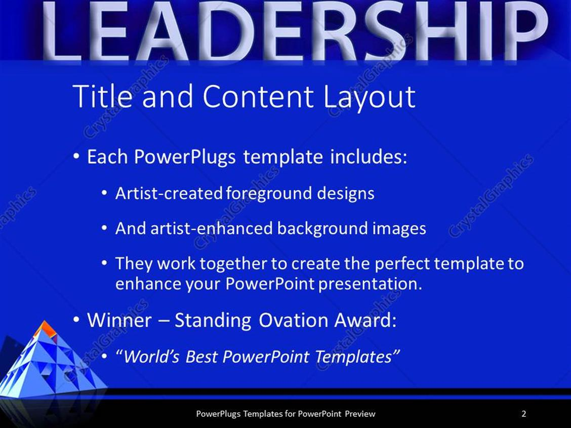 Powerpoint template leadership theme with red triangle on top of powerpoint products templates secure alramifo Images