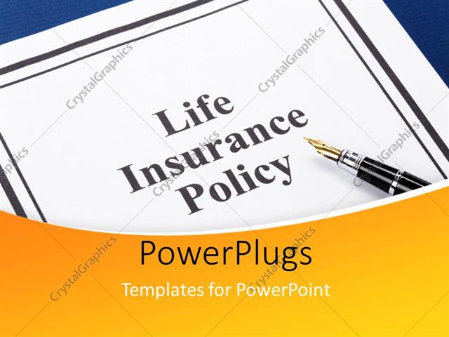 Powerpoint template the life insurance policy file with a pen 18965 powerpoint template displaying the life insurance policy file with a pen pronofoot35fo Images