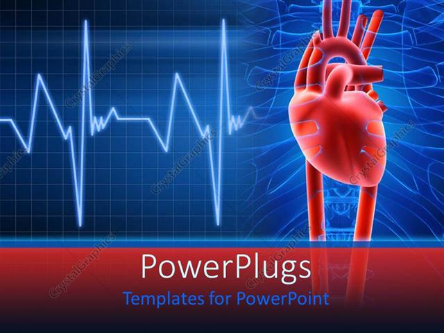 Powerpoint template light and dark blue medical for Cardiovascular powerpoint template free