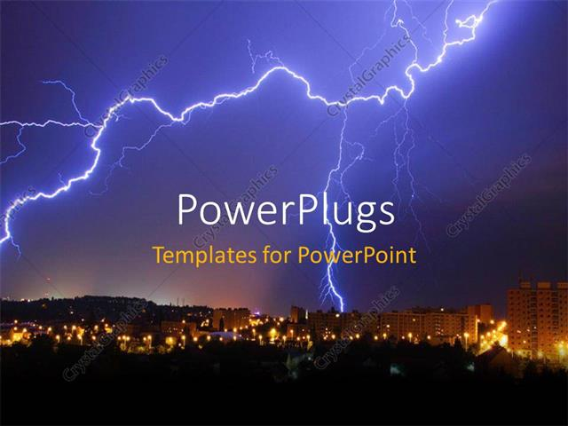 Powerpoint template a lightning thunder with skyscrapers in the powerpoint template displaying a lightning thunder with skyscrapers in the background toneelgroepblik Choice Image