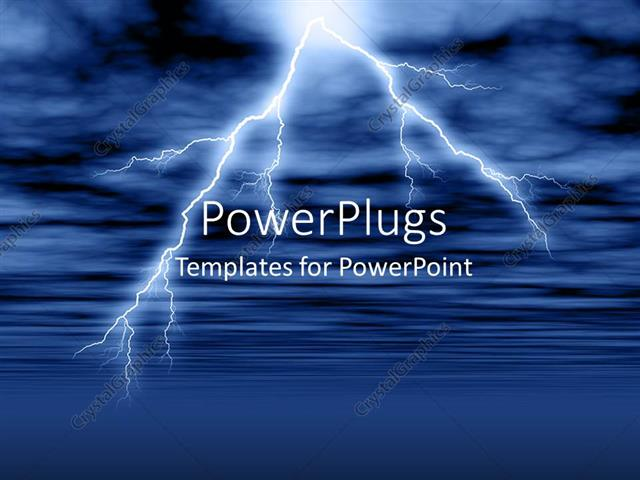 Powerpoint template lightning and thunderstorm in cloudy sky over powerpoint template displaying lightning and thunderstorm in cloudy sky over water surface toneelgroepblik Choice Image
