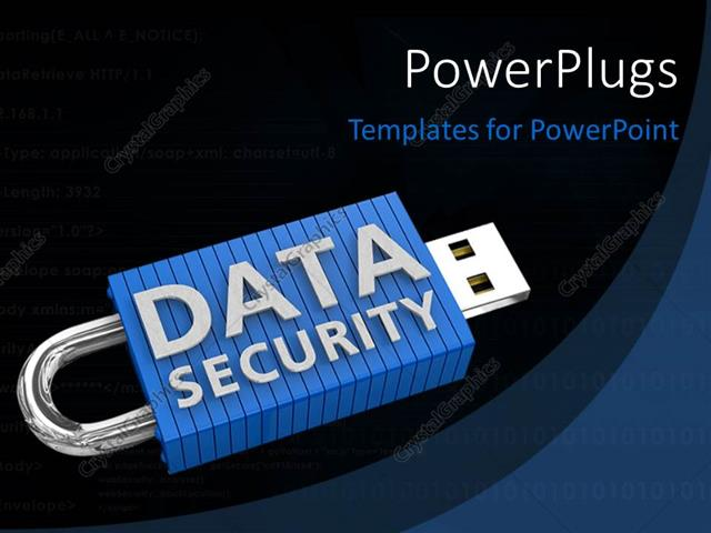 Powerpoint template locked usb device depicting the security of powerpoint template displaying locked usb device depicting the security of data on portable storage devices toneelgroepblik Choice Image