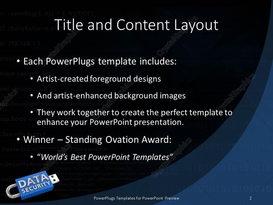 Powerpoint template locked usb device depicting the security of powerpoint products templates secure alramifo Image collections