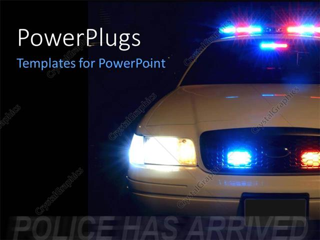 Powerpoint template long exposure to capture the full array of powerpoint template displaying long exposure to capture the full array of police lights with black color toneelgroepblik Image collections