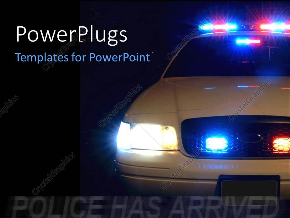 Powerpoint template long exposure to capture the full array of powerpoint template displaying long exposure to capture the full array of police lights with black color alramifo Image collections