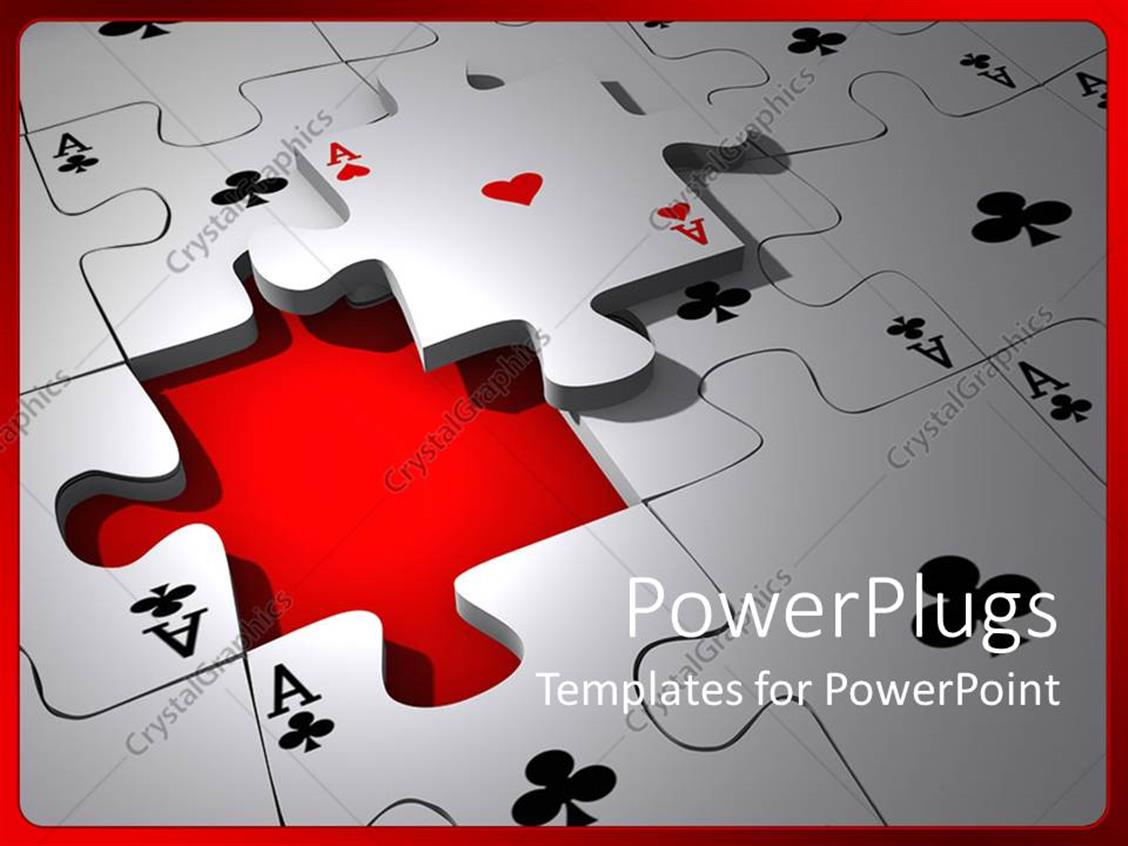 PowerPoint Template: Lots of card puzzle pieces with a missing piece ...