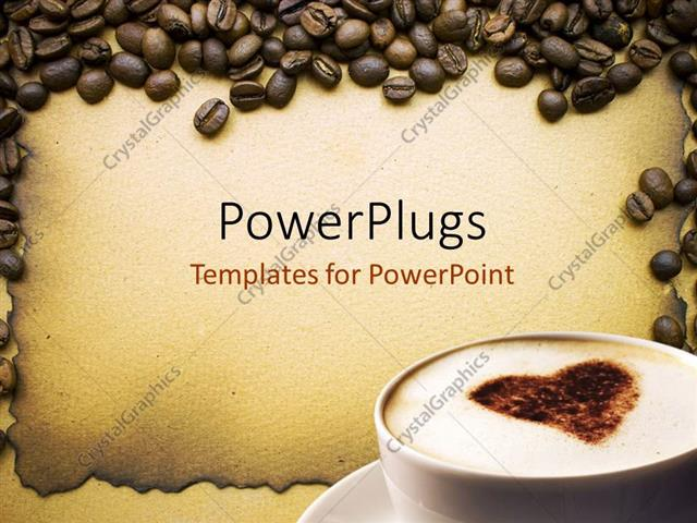 Powerpoint template lots of coffee beans around a white coffee powerpoint template displaying lots of coffee beans around a white coffee cup toneelgroepblik Image collections