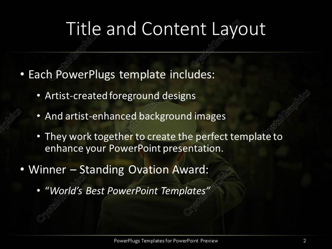 Powerpoint template lots of military officials in on a blurry powerpoint products templates secure toneelgroepblik Choice Image