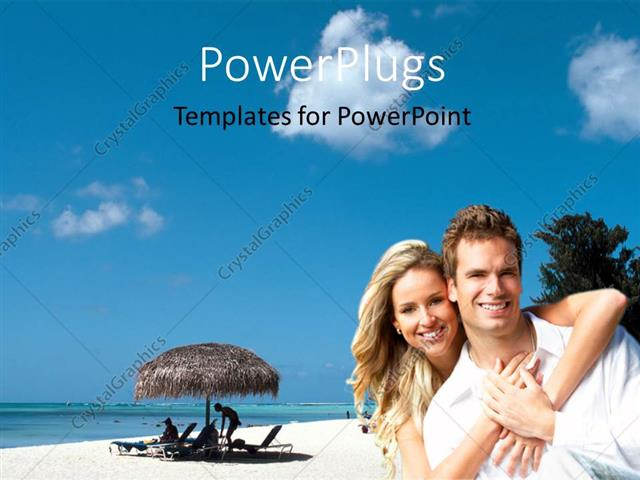 Powerpoint Template A Lovely Couple Having Fun Over A Beach Setting