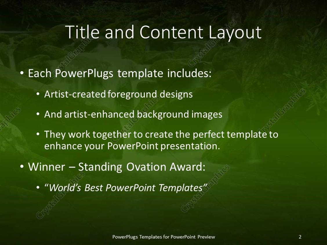 Powerpoint template a lovely water fall scene with lots of moss powerpoint products templates secure toneelgroepblik Images