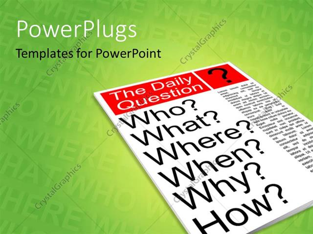 Powerpoint template a magazine with a question on the cover page 8944 powerpoint template displaying a magazine with a question on the cover page toneelgroepblik Choice Image