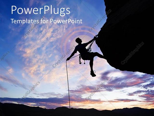 Powerpoint template a man climbing the rock success hard work 25407 powerpoint template displaying a man climbing the rock success hard work toneelgroepblik Image collections