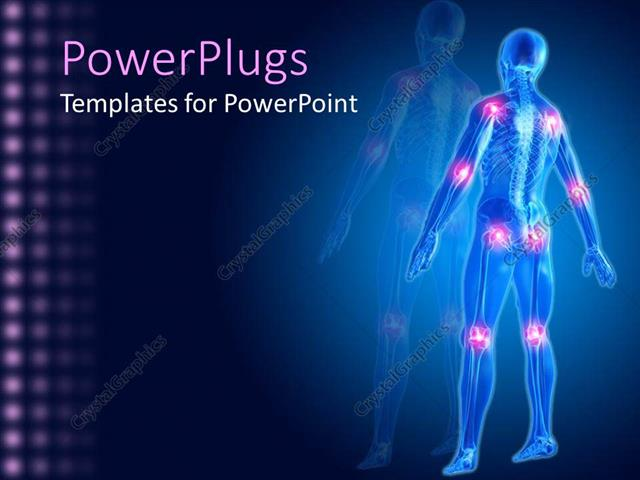 Powerpoint template a man skeleton showing different joints in the powerpoint template displaying a man skeleton showing different joints in the human body with swelling pain toneelgroepblik Images
