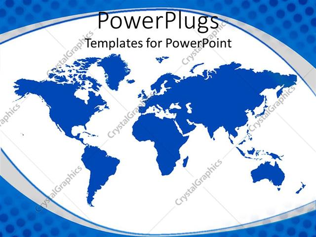 Powerpoint template map of the whole world with blue continents in powerpoint template displaying map of the whole world with blue continents in white background gumiabroncs Image collections