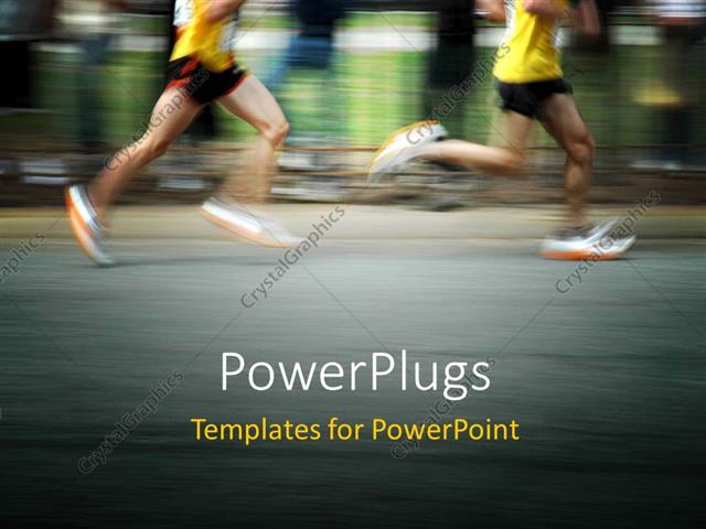 Powerpoint template marathon runners concept with motion blur powerpoint template displaying marathon runners concept with motion blur effect toneelgroepblik Image collections