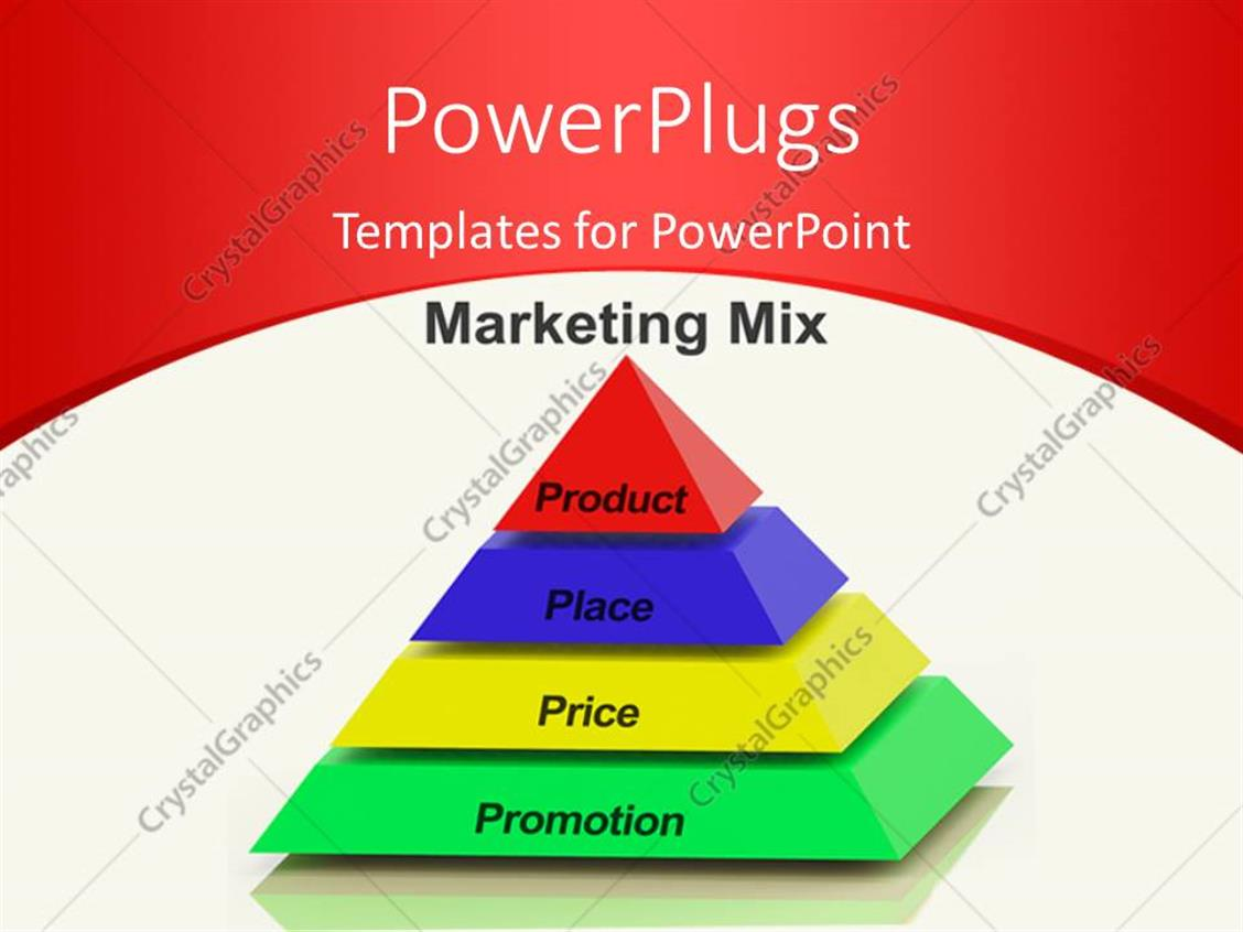 Powerpoint template marketing mix pyramid with keywords such as powerpoint template displaying marketing mix pyramid with keywords such as place price product alramifo Images