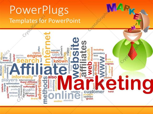 Powerpoint template marketing theme design with depiction of 3d powerpoint template displaying marketing theme design with depiction of 3d figure with open head and toneelgroepblik Gallery
