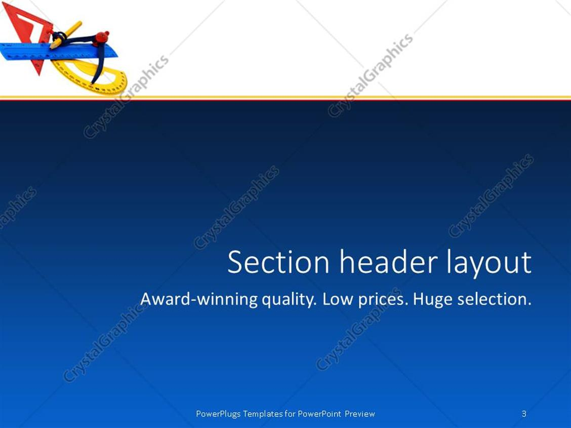 Powerpoint template math tools with yellow red blue geometry powerpoint products templates secure alramifo Images