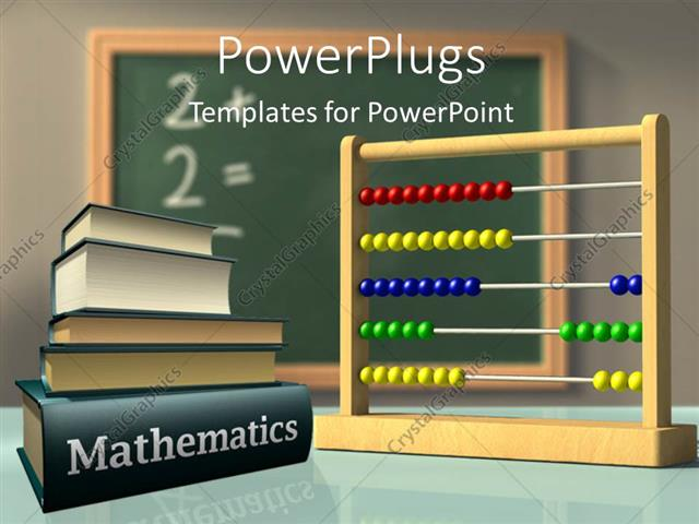 Powerpoint template mathematics books and abacus in front of a powerpoint template displaying mathematics books and abacus in front of a chalkboard used to solve toneelgroepblik Images