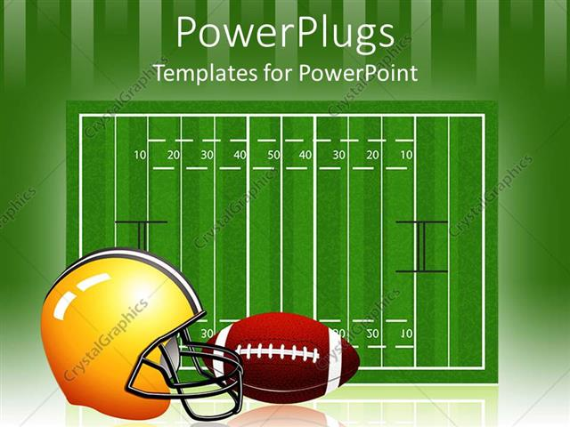 Powerpoint Template The Measurement Of The Rugby Field Along With A