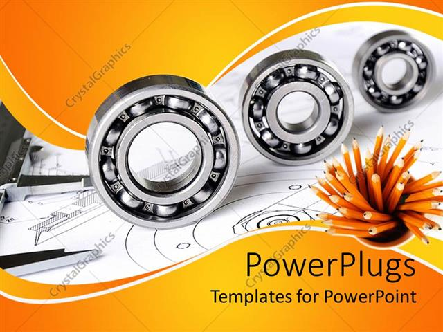 Powerpoint template mechanical engineering theme with three powerpoint template displaying mechanical engineering theme with three different sized bearings toneelgroepblik Image collections