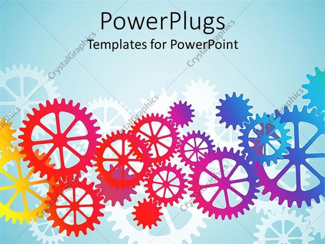 Powerpoint template mechanical gears and cogs in red orange powerpoint template displaying mechanical gears and cogs in red orange yellow blue and purple on toneelgroepblik Gallery
