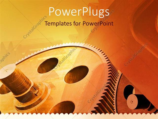 Powerpoint template mechanical gears for industry industrial powerpoint template displaying mechanical gears for industry industrial theme with gears on retro colored toneelgroepblik Image collections
